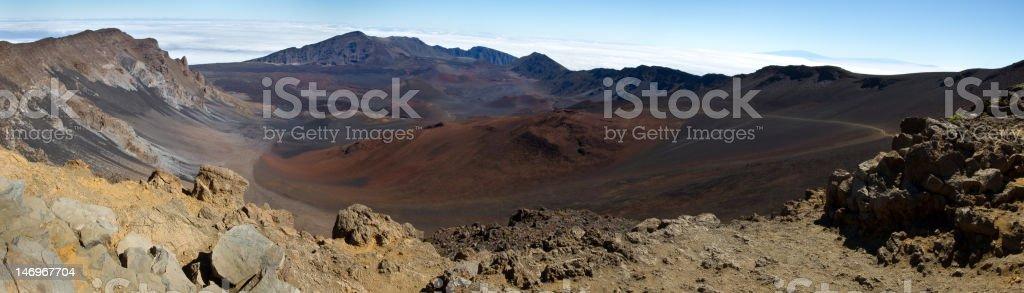 Haleakala Summit Panoramic Image royalty-free stock photo