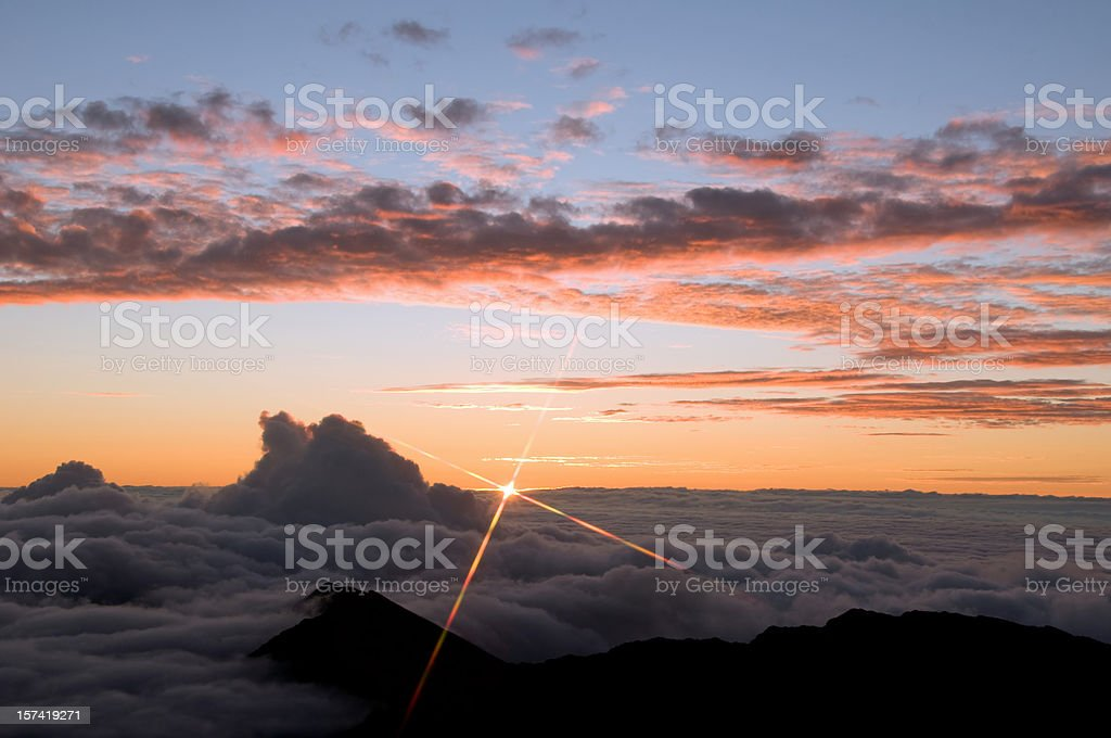 Haleakala Sunrise royalty-free stock photo