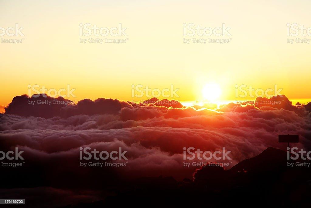Haleakala Sunrise royalty-free stock photo
