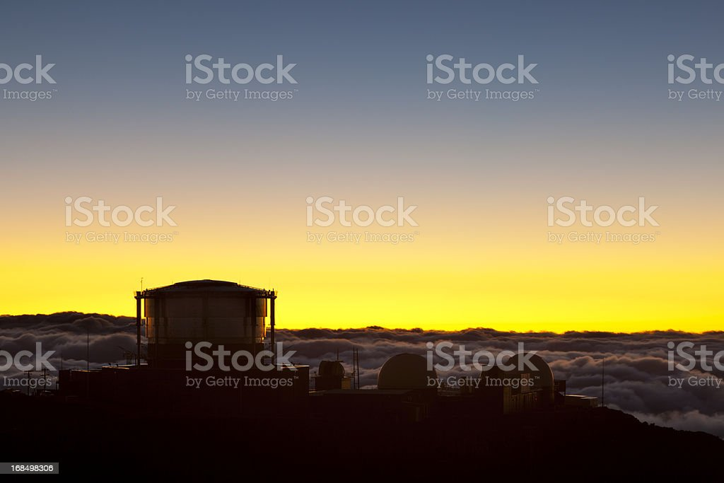 Haleakala Sunset, Maui royalty-free stock photo
