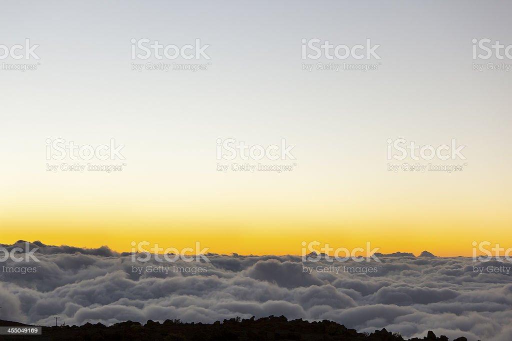 Haleakala Sunset, Maui royalty-free stock photo