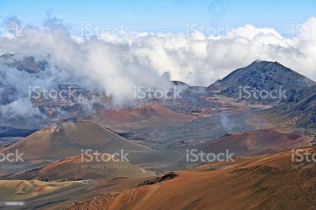 Haleakala Volcano and Crater Maui Hawaii stock photo
