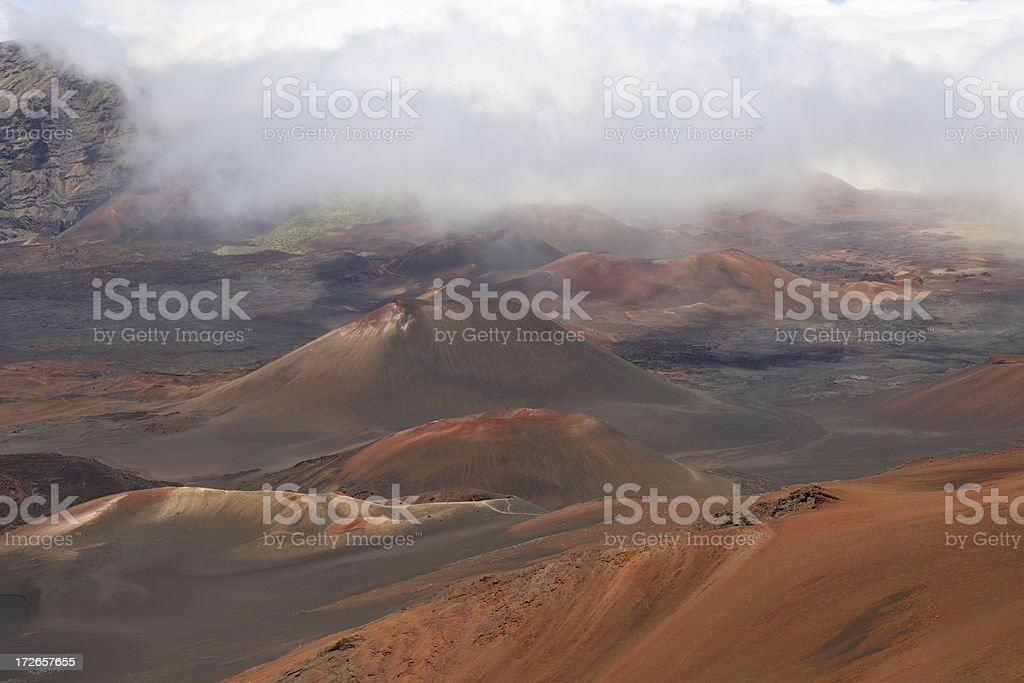 Haleakala Volcano Crater - Maui royalty-free stock photo