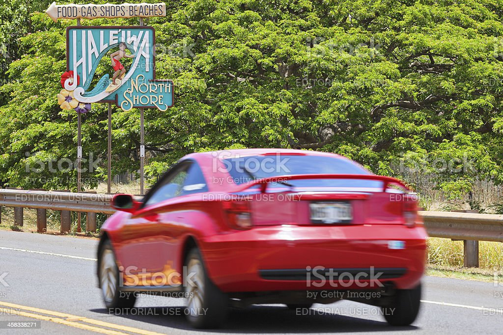 Haleiwa Sign royalty-free stock photo