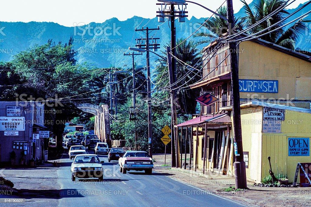 Haleiwa Town stock photo