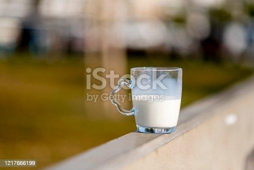 half a glass of milk or buttermilk