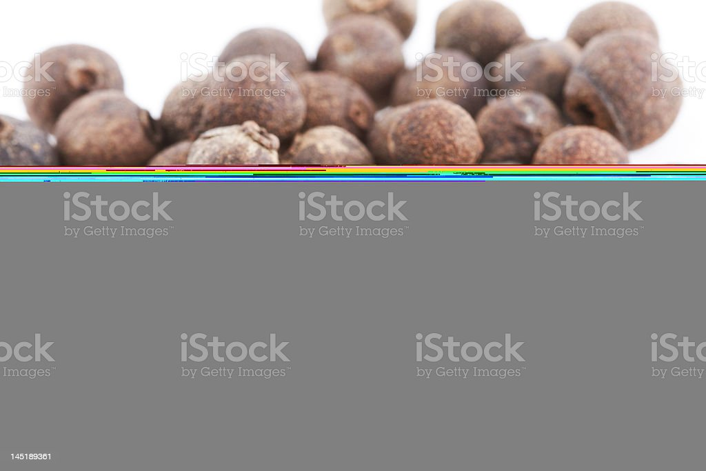 Half a picture of nuts and half of grey nothingness stock photo