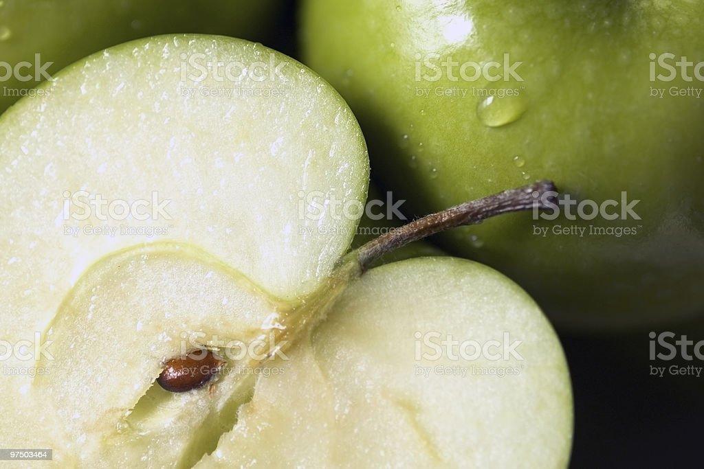 Half an Apple royalty-free stock photo