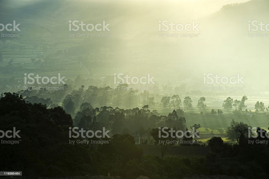 Half an hour before sunset. The Andes royalty-free stock photo