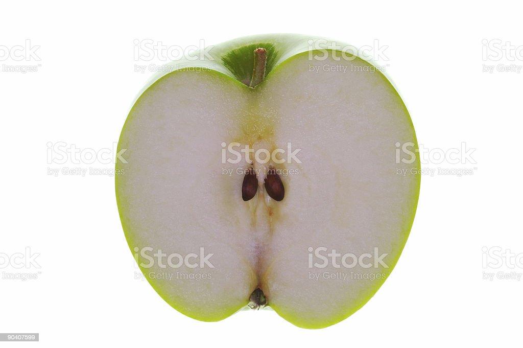 Half Apple backlit royalty-free stock photo