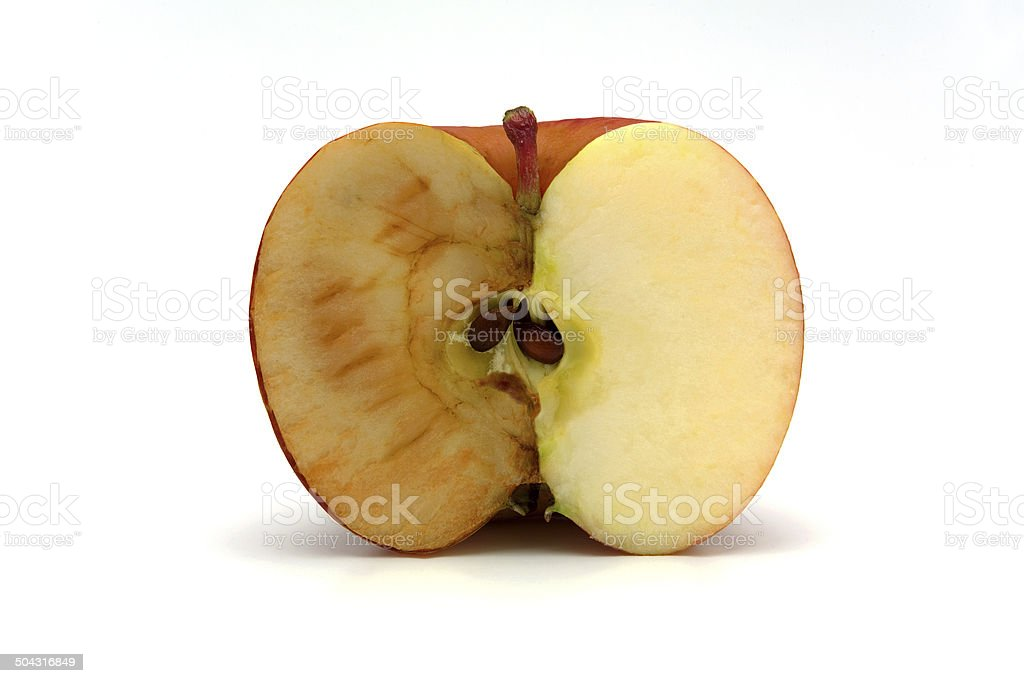 Half apple stock photo