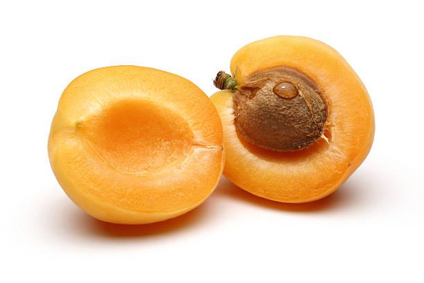 Half Apricot stock photo