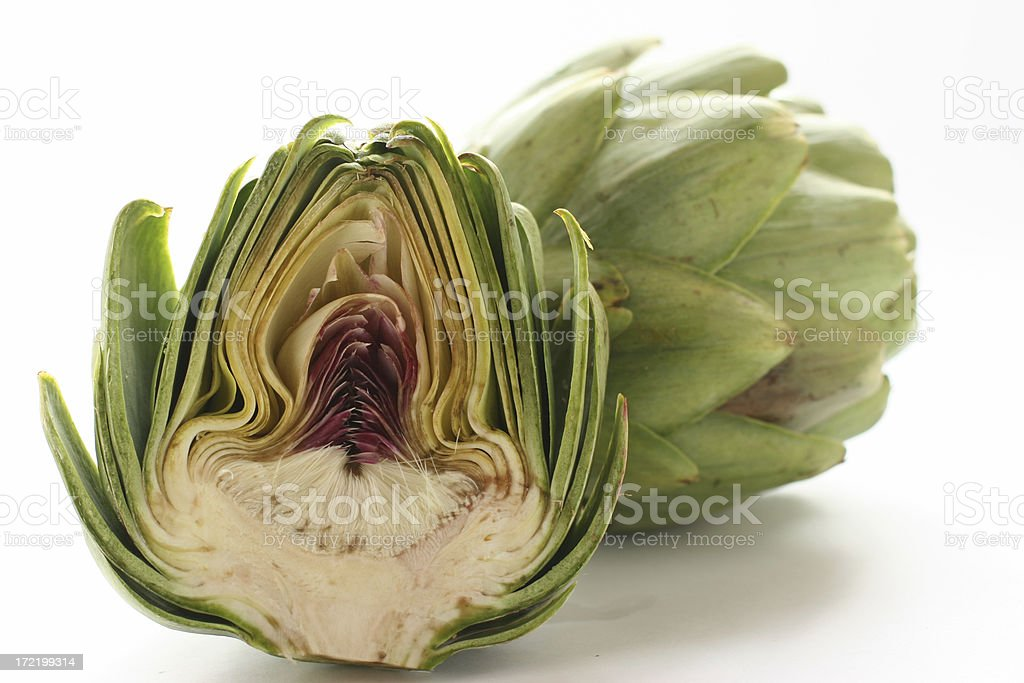 half artichoke royalty-free stock photo
