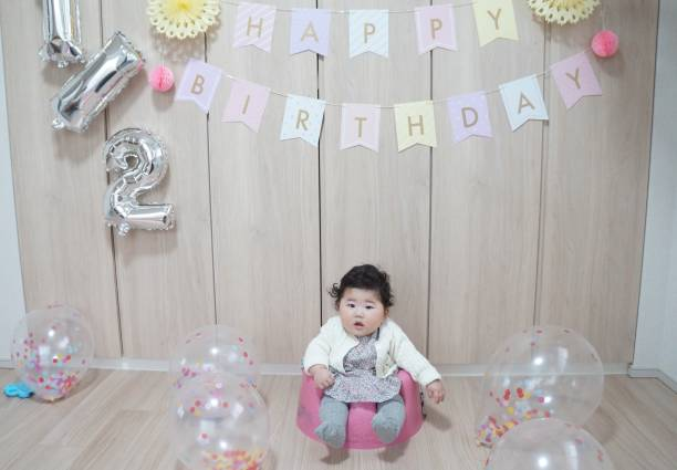 half birthday - 0 11 months stock pictures, royalty-free photos & images