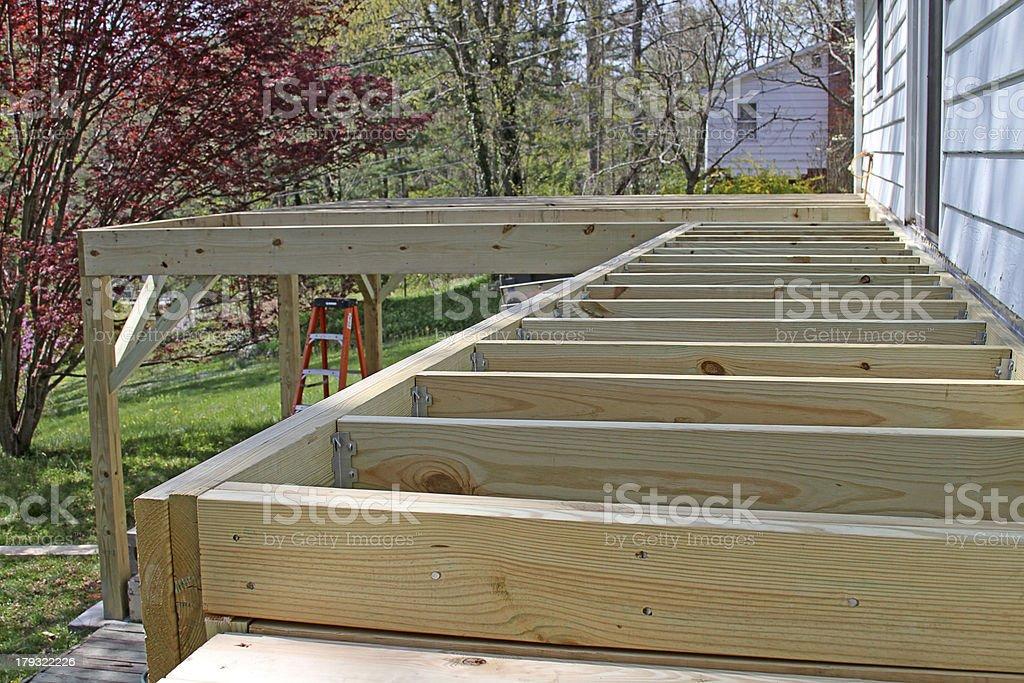 Half Built Deck stock photo