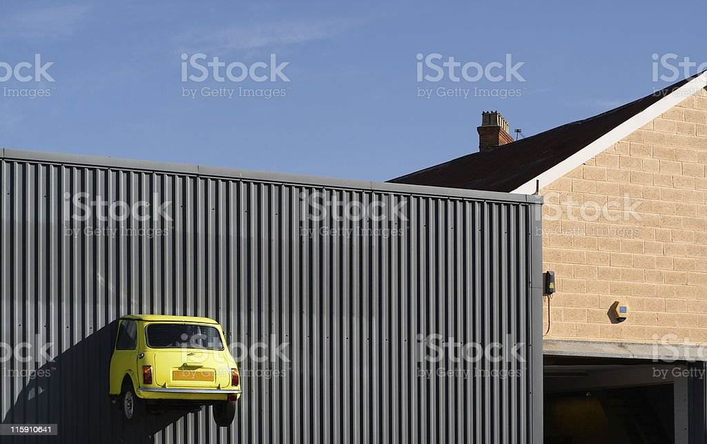 Half car - incomplete car stock photo