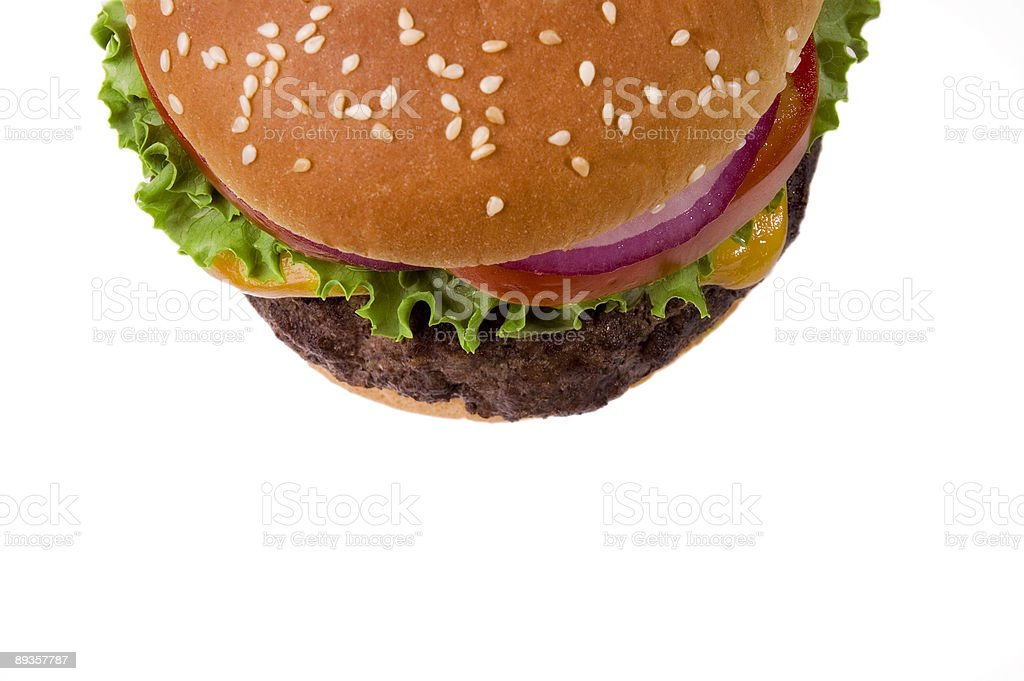 Half Cheeseburger royalty-free stock photo