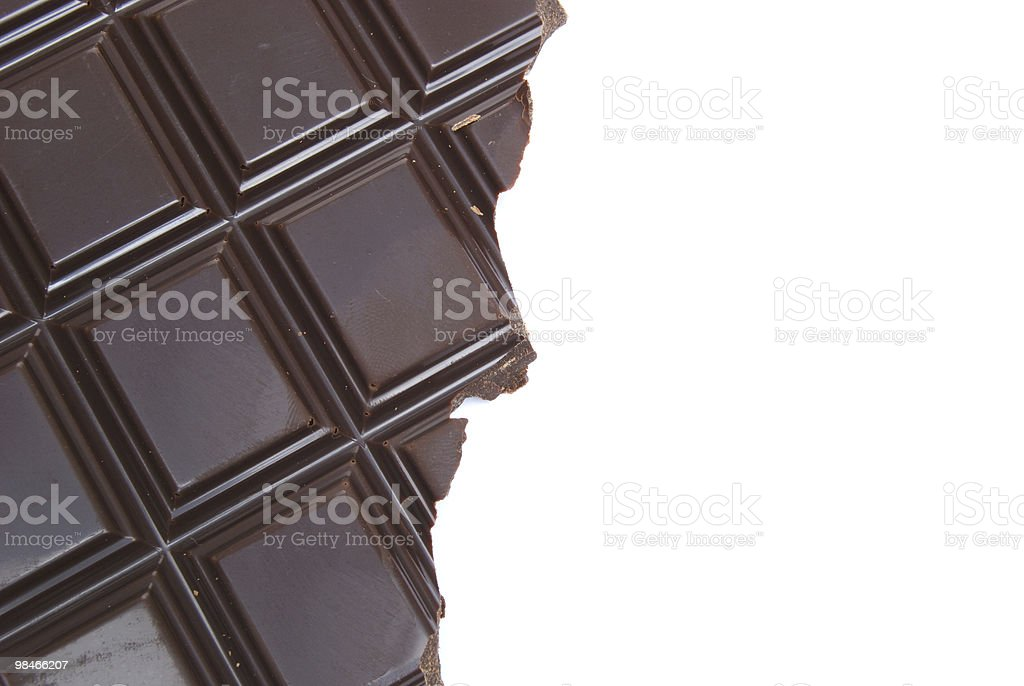 Half Chocolate royalty-free stock photo