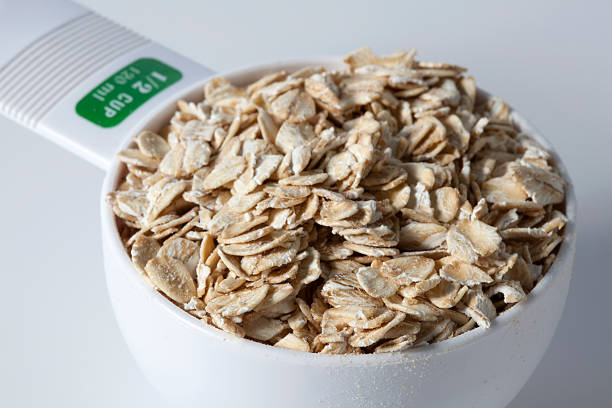 Half Cup Of Oatmeal stock photo