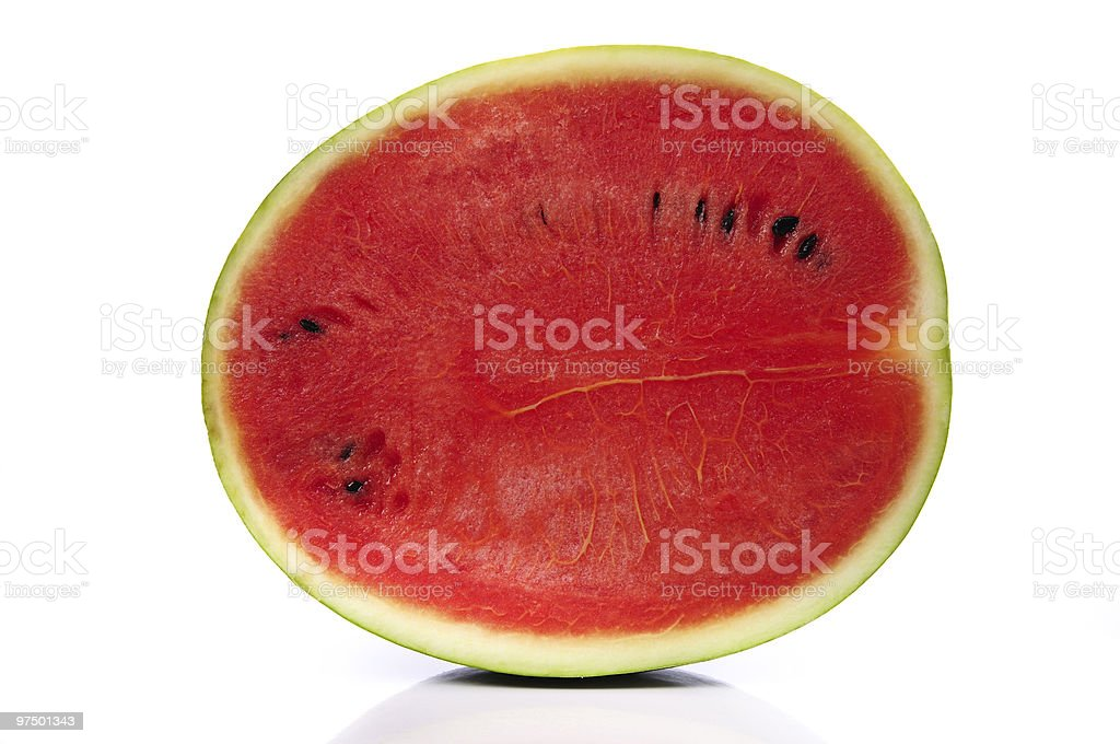 Half cut watermelon royalty-free stock photo