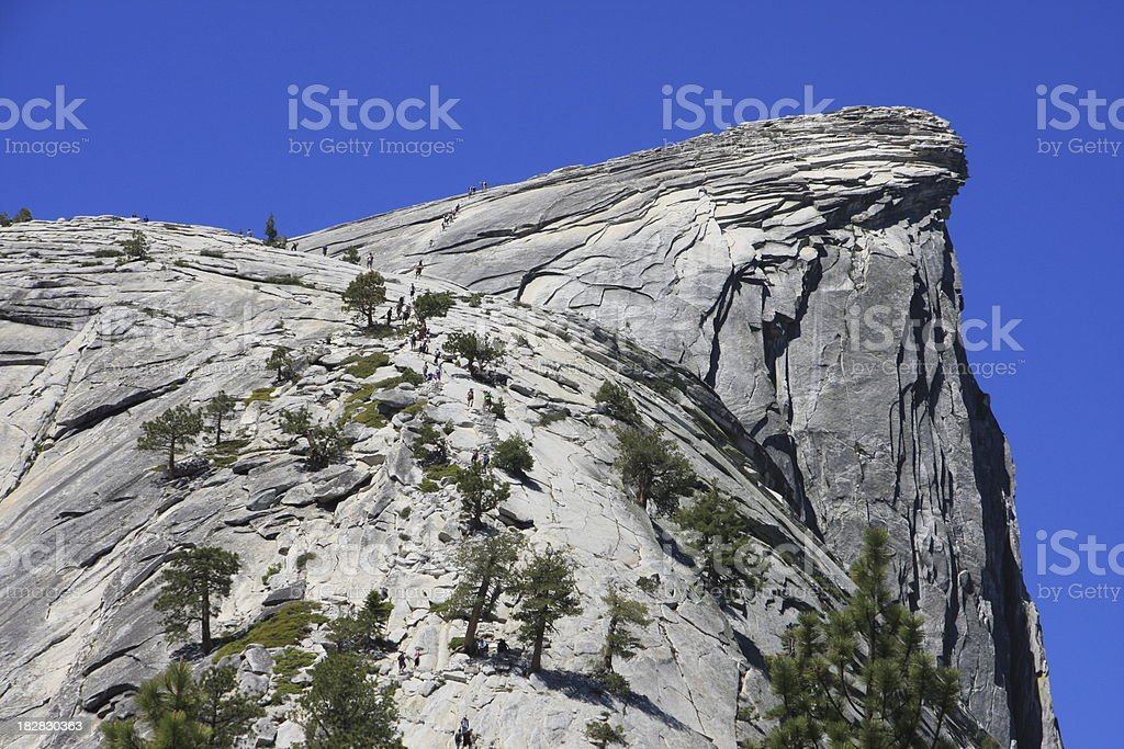 Half Dome and Subdome in Yosemite stock photo