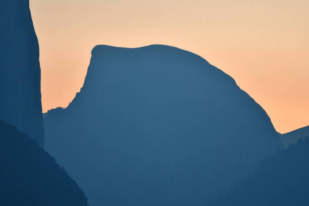 half dome at sunrise - steven harrie stock pictures, royalty-free photos & images