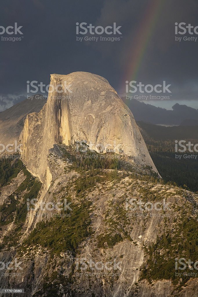 Half dome at sunset stock photo