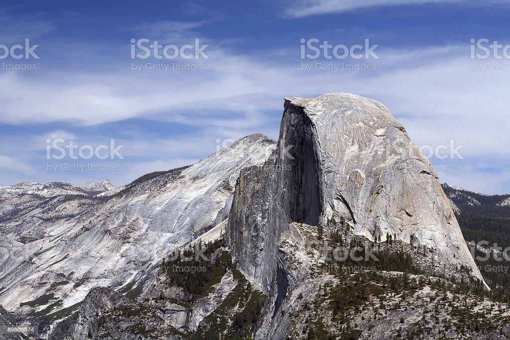 Half Dome Closeup - Horizontal royalty-free stock photo