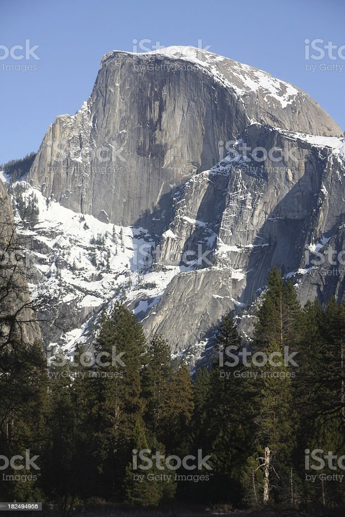 Half Dome in Winter - Yosemite National Park stock photo