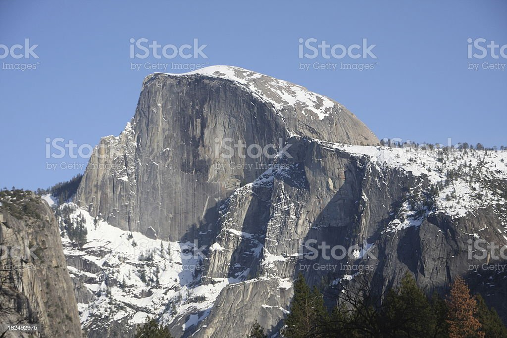 Half Dome in Winter - Yosemite stock photo