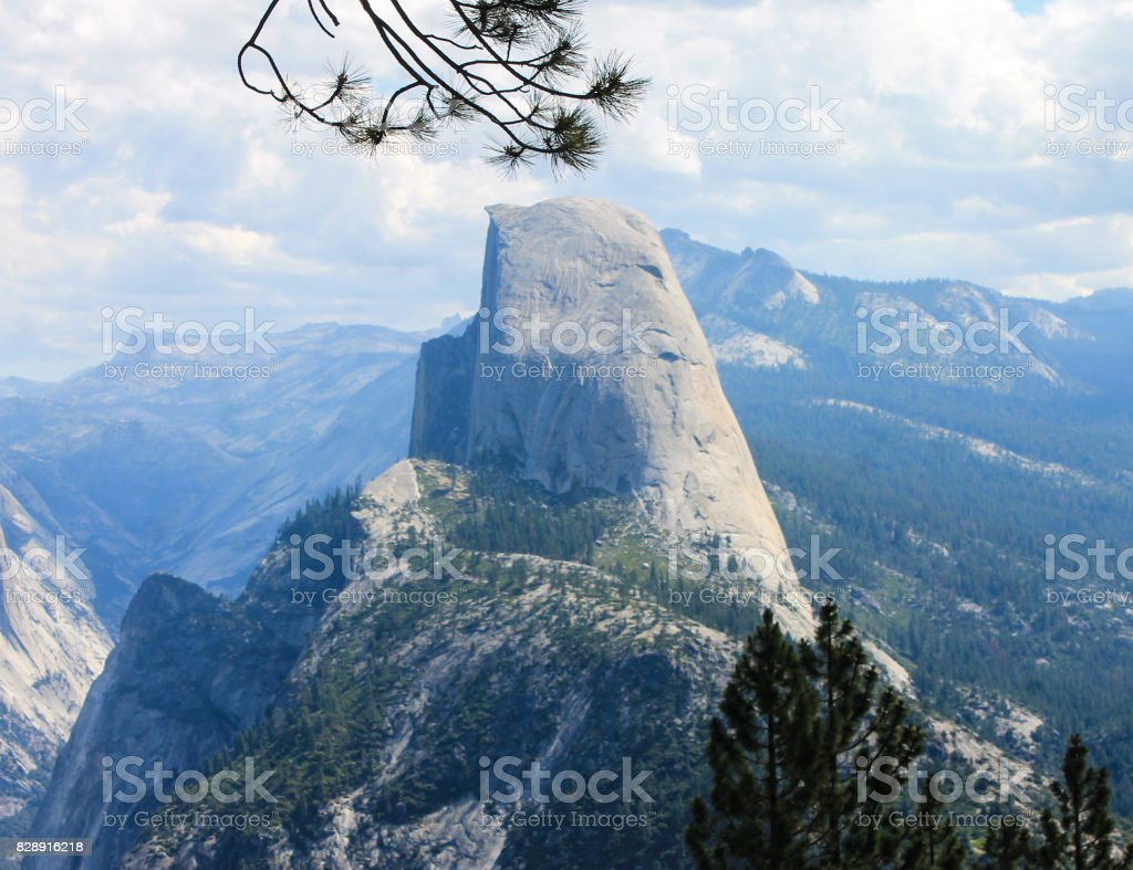 Half Dome of Yosemite stock photo