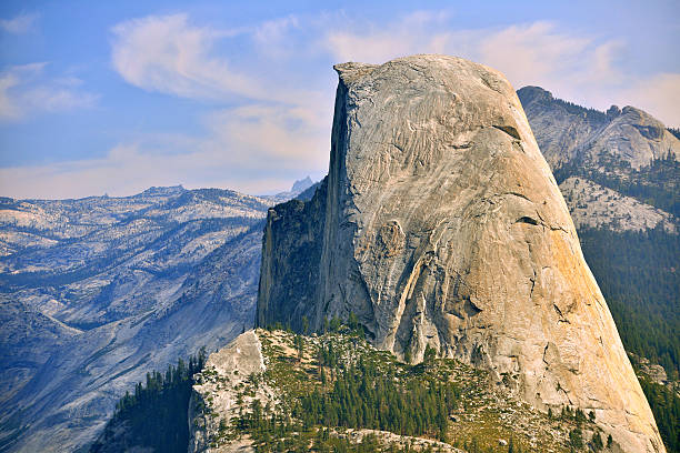 Half Dome Beautiful view from the Yosemite National Park with the famous Half Dome. el capitan yosemite national park stock pictures, royalty-free photos & images