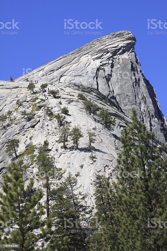 Half Dome Summit and Visor stock photo