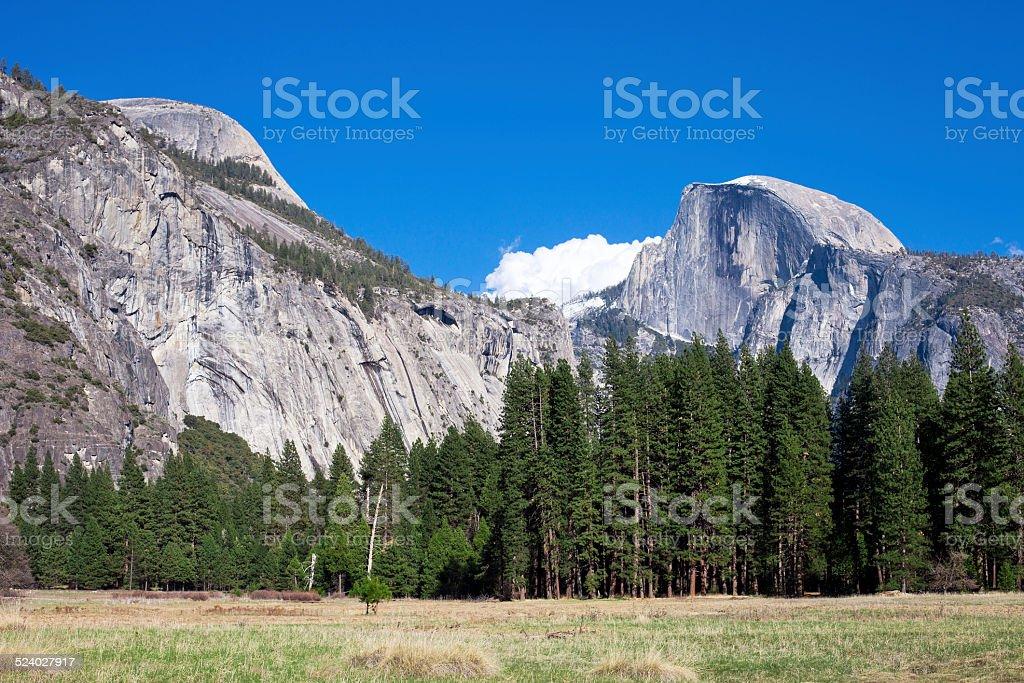 Half Dome, Yosemite national park, California, USA stock photo