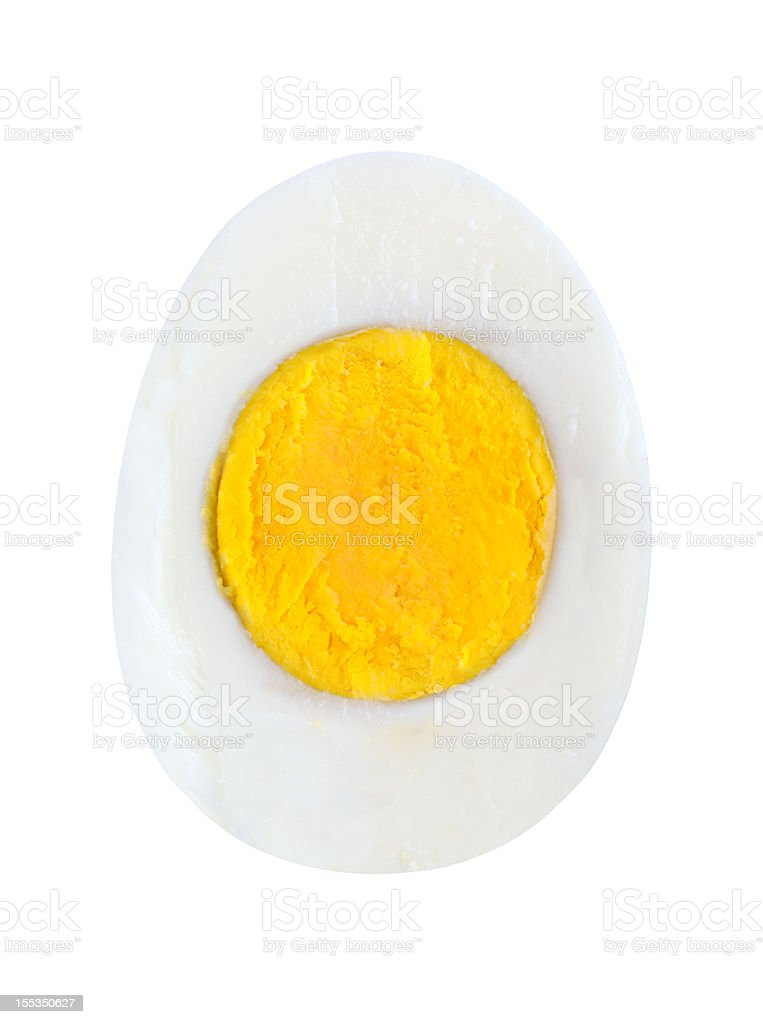 Half egg stock photo