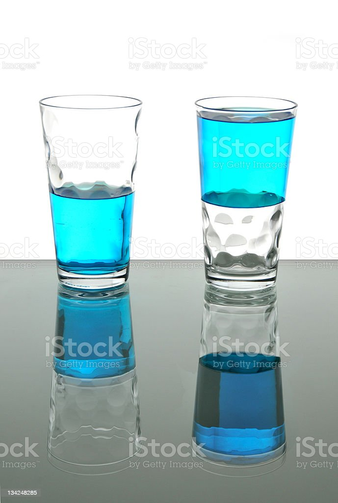 Half empty or full stock photo