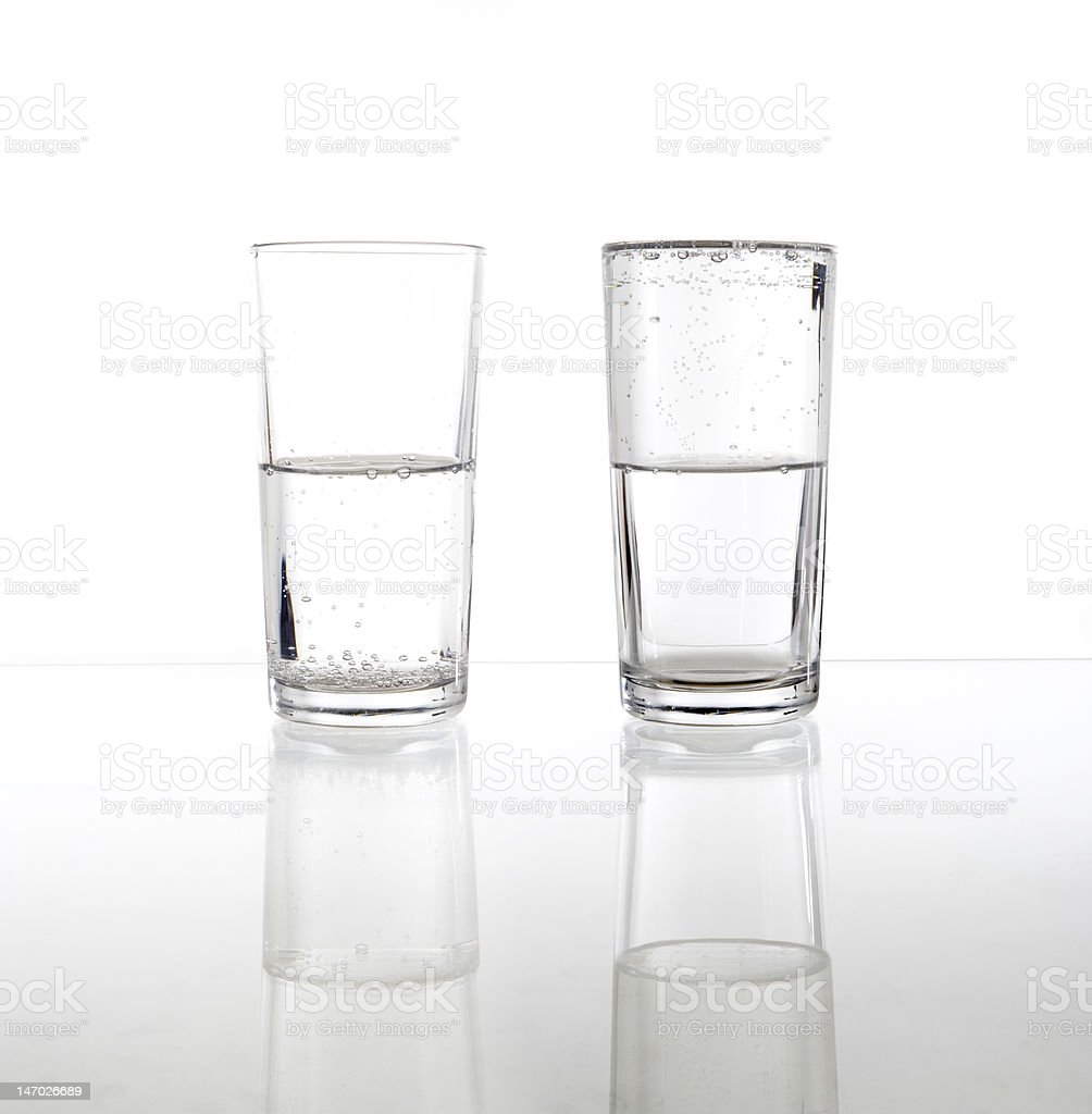 Half Empty/Full (Sparkling Water) stock photo