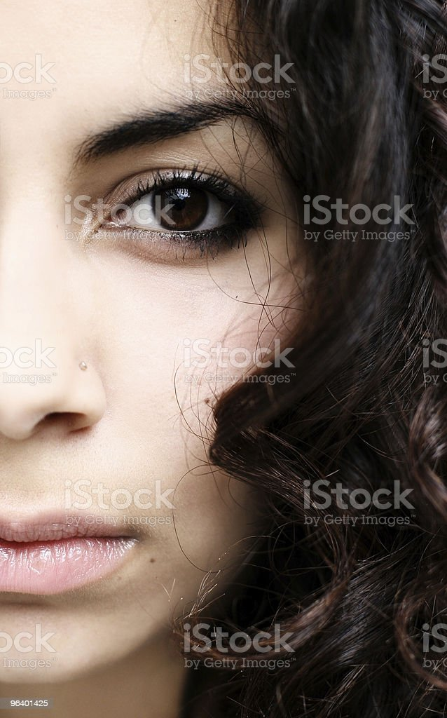 Half face abstract - Royalty-free Anthropomorphic Stock Photo