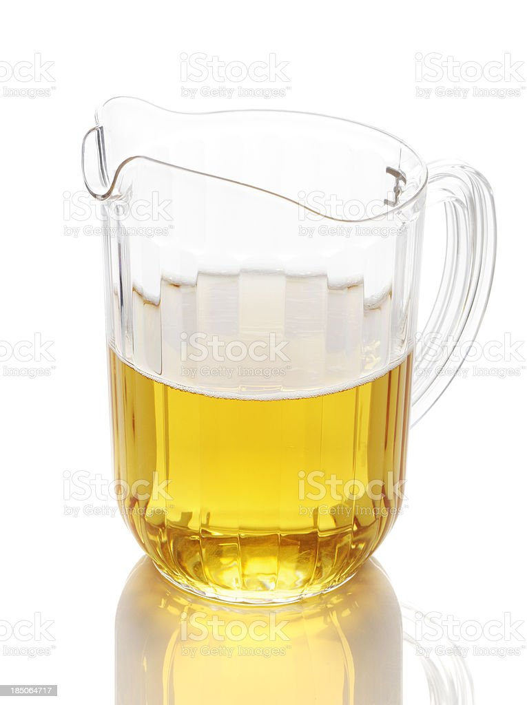 Half full beer pitcher royalty-free stock photo