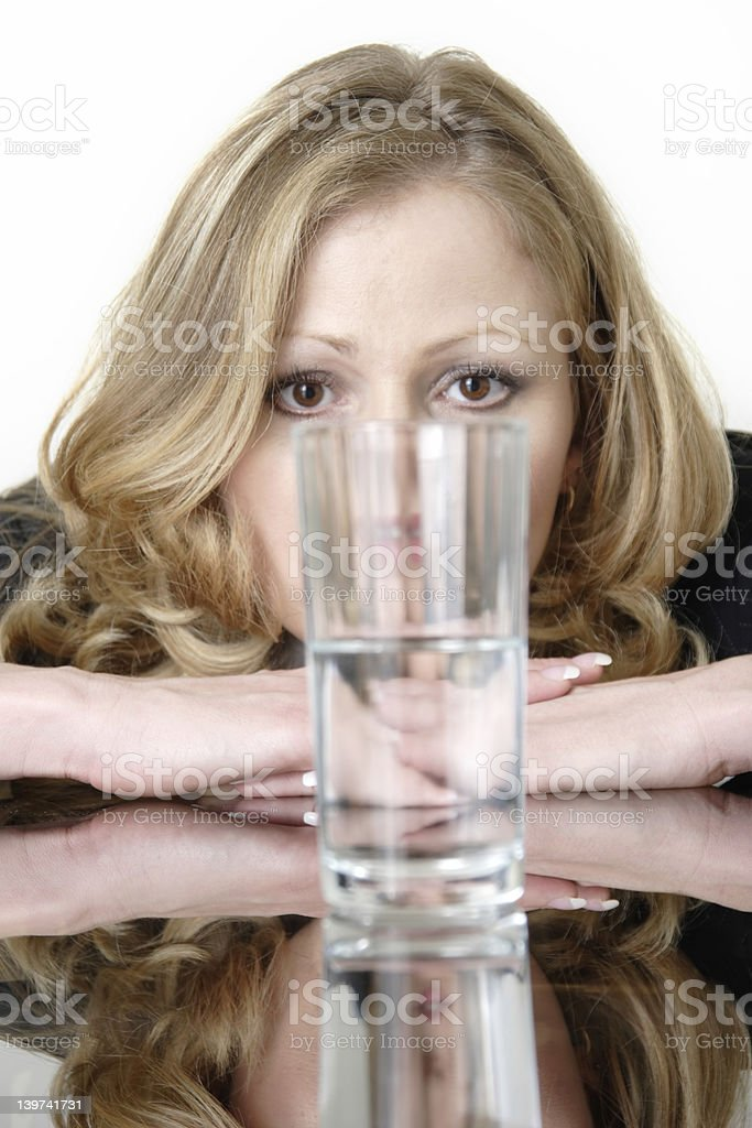 half full or half empty? stock photo