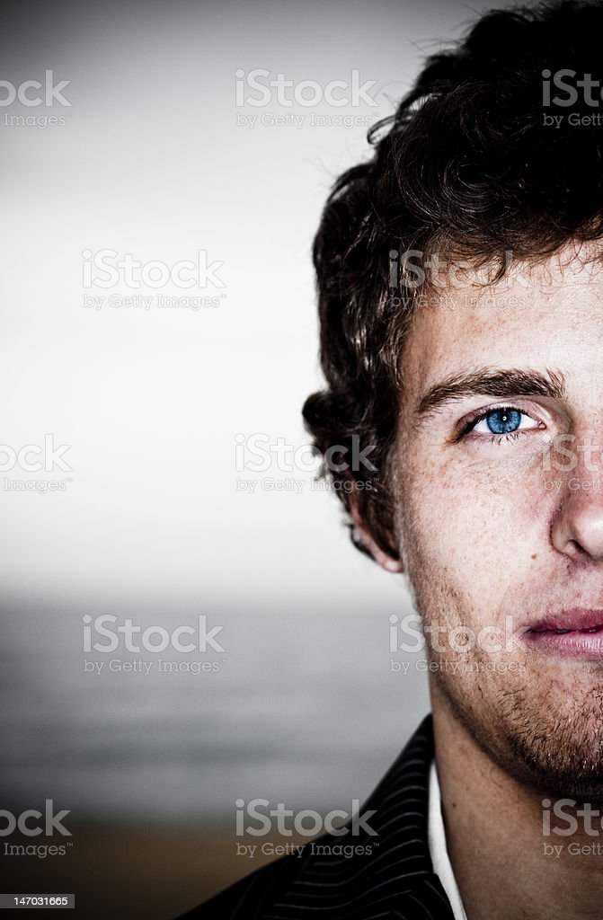 Half Full Portrait stock photo