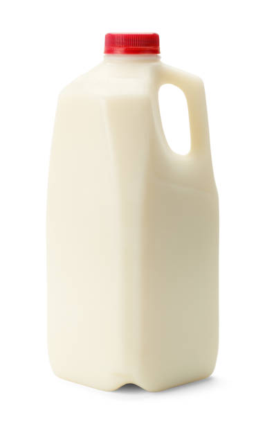 half gallon - milk bottle stock photos and pictures