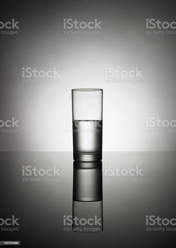 half glass of water no 2 stock photo