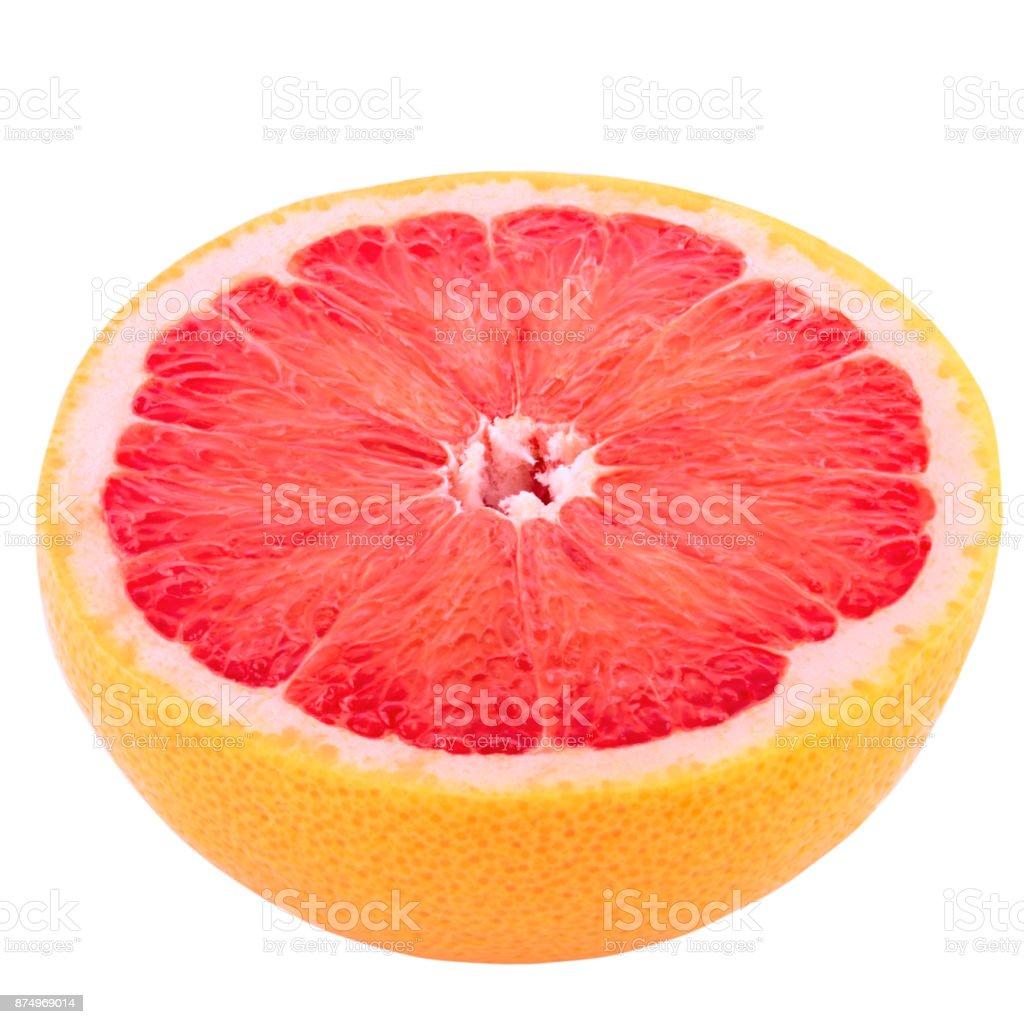 Half grapefruit isolated on white background - foto stock