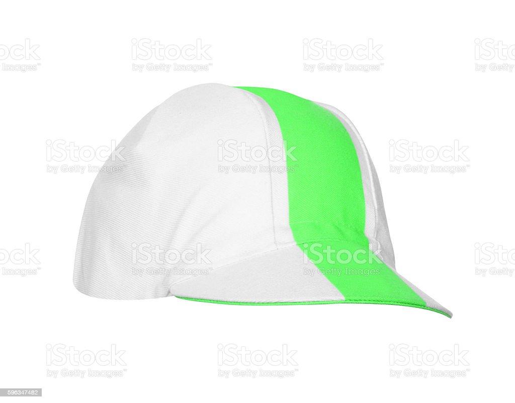 Half Green baseball cap isolated Lizenzfreies stock-foto