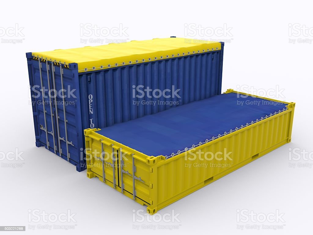half height open top container stock photo more pictures of box container istock. Black Bedroom Furniture Sets. Home Design Ideas