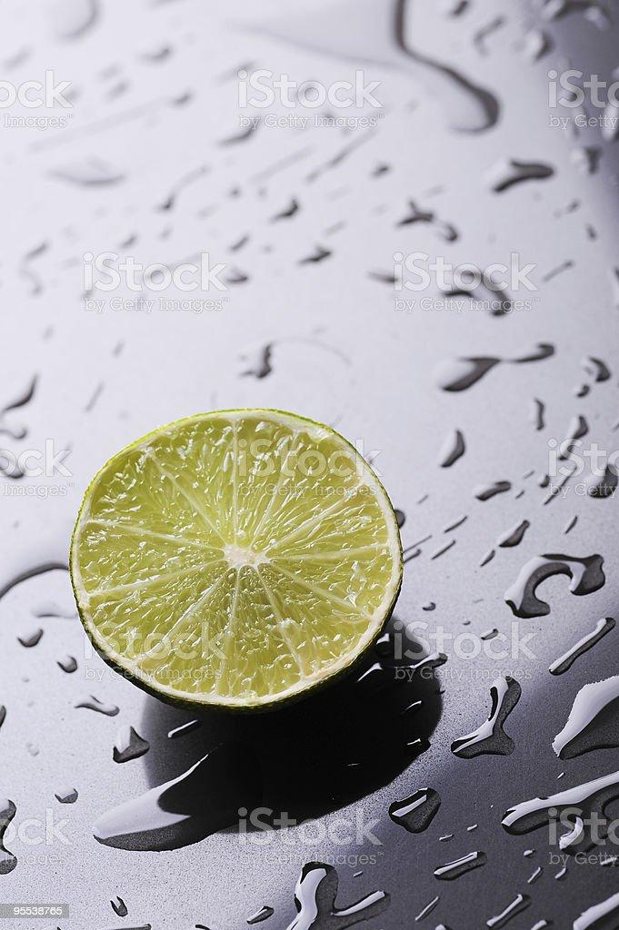 Half lime royalty-free stock photo
