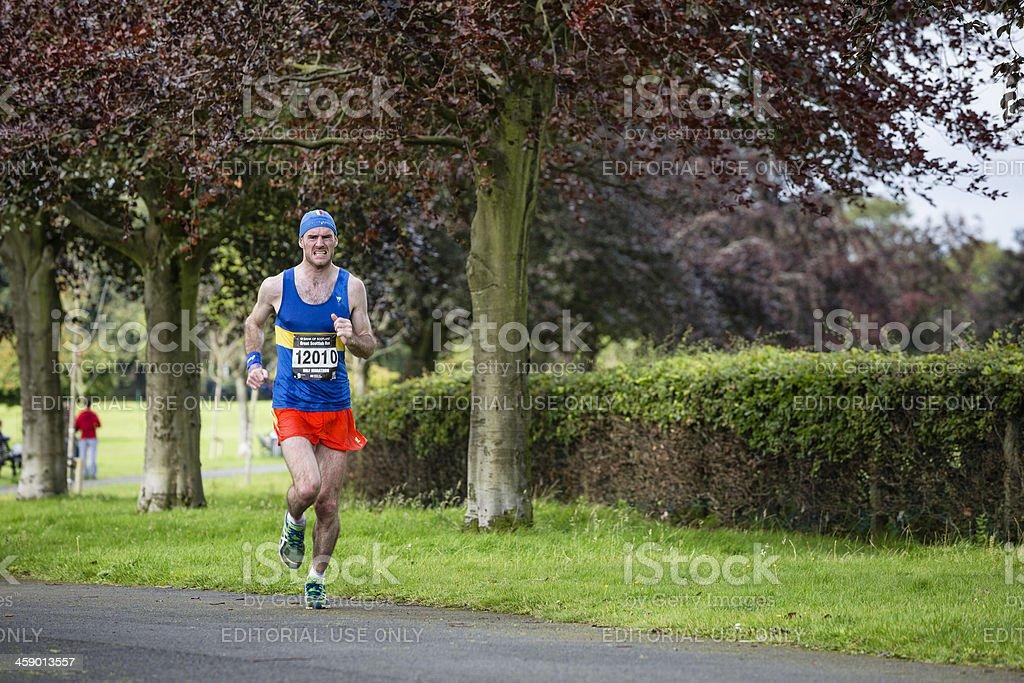 Half Marathon Runner stock photo