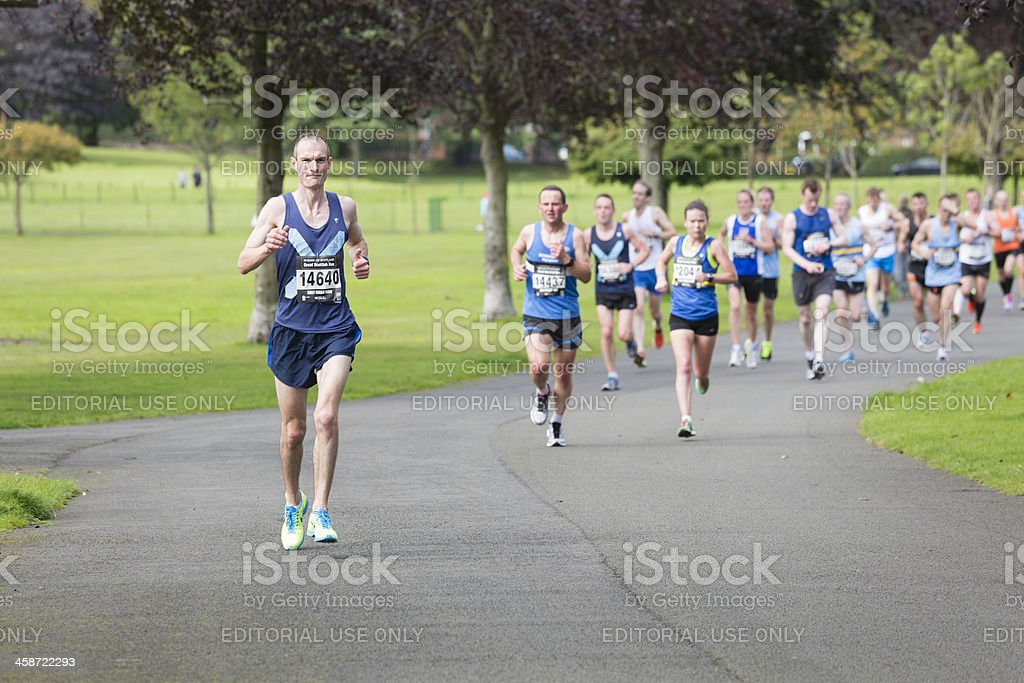 Half Marathon Runners royalty-free stock photo
