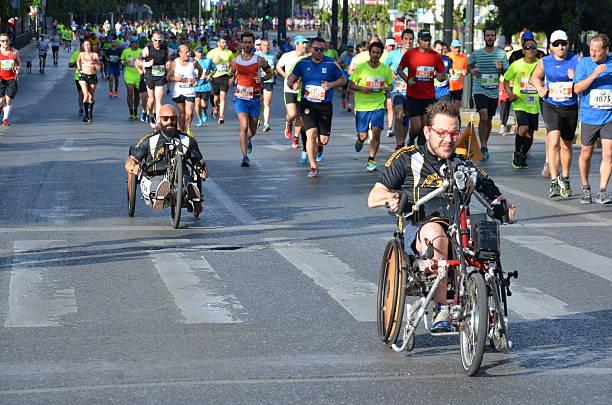 Half Marathon Running Event stock photo
